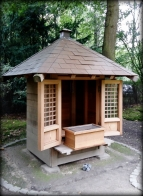 Shinto shrine or Jinja -- replica of the shrine in the Shukkei-en garden of Hiroshima
